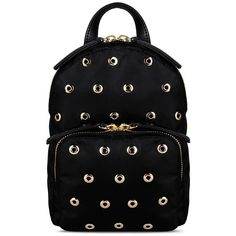 Redvalentino Small Backpack With Eyelets Detail (9.015 ARS) ❤ liked on Polyvore featuring bags, backpacks, black, red valentino bag, rucksack bag, red valentino, logo bags and knapsack bags