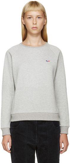 @thedailynat Maison Kitsuné - Grey Logo Pullover