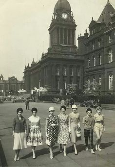 Models from Marks and Spencers outside the Town Hall Leeds Mom used to talk about shopping at Marks and Spencers.....