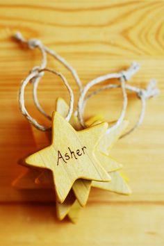 Custom wooden ornaments