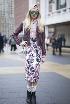 Stilist Dergisi | - New York Moda Haftası Sokak Stili büyük dondurma için Giyinme