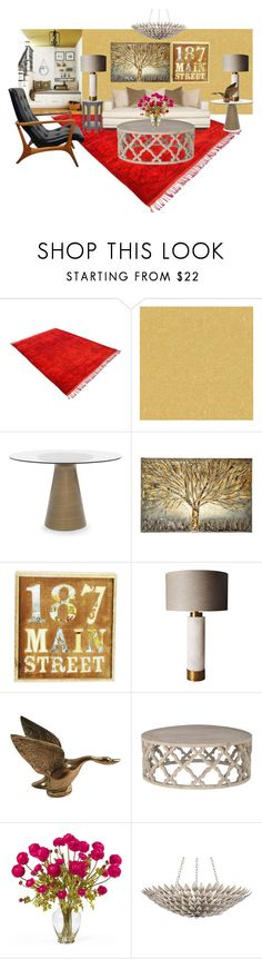 """HOME DECOR"" by paula-parker ❤ liked on Polyvore featuring interior, interiors, interior design, home, home decor, interior decorating, Nook, Versace, Mitchell Gold + Bob Williams and Gray Manor"