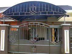 STAINLEES STEEL KOTABARU KALSEL: MODEL VARIASI PAGAR BERBAHAN BESI DAN STAINLESS Grill Gate Design, House Main Gates Design, Iron Gate Design, Railing Design, Fence Design, Door Design, Gate For Home, Stainless Steel Gate, Types Of Steel