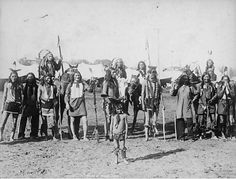 "Group of Sioux men and one child wearing traditional regalia with tents in background from Buffalo Bill's Wild West. Three men on horses. Written on bottom of photo, ""Sioux Indians."" Date: circa 1886 Native American Pictures, American Indian Art, Native American History, Native American Indians, Plains Indians, Westerns, Sioux Nation, First Nations, Heritage Image"