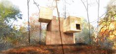 Element house / Sami #Rintala | #unrealviz  My new #rendering - #NPR with #Sketchup & #Gimp.  Digital #watercolor.
