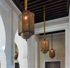 moroccan hanging lamps LIKE THE PIPE HUNGING