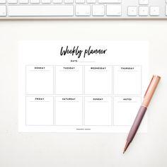 Gratis printable Weekplanner