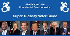 Washington, Feb. 29 -RespectAbility released its Super TuesdayDisability Vote Guide. The #PwDsVote 2016 Campaign…