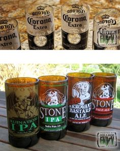 Make Your Own Glass Cups From Old Bottles! #Various #Trusper #Tip