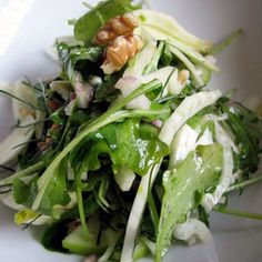 The winter flavors of peppery arugula, crisp sweet apple, tart fennel ...