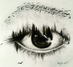 Super creative eye drawing by creative drawing ideas, creative artwork, creative sketches Amazing Drawings, Cool Drawings, Drawing Sketches, Beautiful Pencil Drawings, Drawing Pictures, Artwork Pictures, Sketching, Painting & Drawing, Drawing Eyes