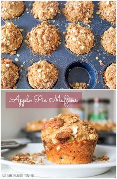 Sky High Apple Pie Muffins. Learn how to make bakery-style (and healthier!) muffins at sallysbakingaddiction.com
