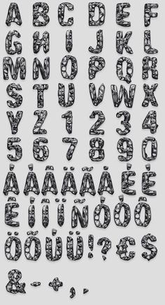 Once we were imaging this font in the upcoming future. The Black Net Font by Handmadefont looks like one of those items created with generative design technologies. Alfabeto Doodle, Letter Of The Week, Lettering Design, Alphabet, Fonts, Typography, Letters, Handmade, Image