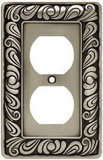 rocker beveled glass see more brainerd paisley single duplex outlet wall plate switch plate cover
