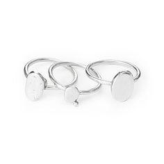 Pebble stacking rings
