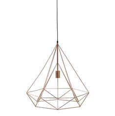 Suspension lamp IRON COPPER metal, D 60 cm, copper color