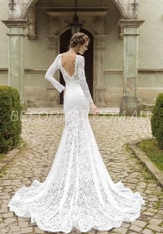 Beformal.com.au SUPPLIES Church Trumpet/Mermaid Hall Zipper-up Jewel Winter Fall Natural Wedding Dress Wedding Dresses 2016