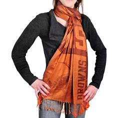 Cleveland Browns Ladies x Scarf - Brown Orange 68ac241f1