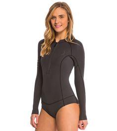 Billabong Women's 2mm Salty Dayz Long Sleeve Chest Zip Springsuit Wetsuit at SwimOutlet.com - Free Shipping