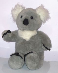 "Build a Bear Koala 15"" Plush Grey White Tufted Ears Stuffed Animal Retired"