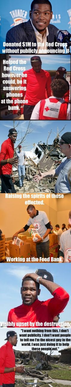 Good Guy Kevin Durant Helping After the Moore Tornado