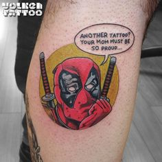 Deadpool for the blabbermouths. - Marvel Tattoos That'll Make You Want to Be a Superhero - Photos