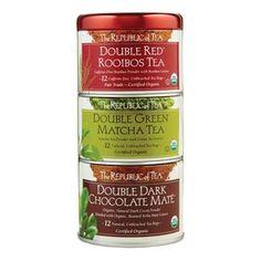 Organic Double Teas Stackable Tin