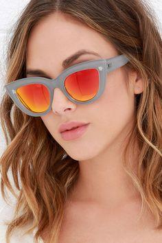 22157b42a3e Quay Kitti Coffee and Orange Mirrored Cat Eye Sunglasses