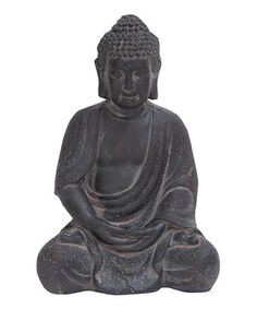 When aiming to incorporate a little of the Buddha's ideas of peace and serenity into everyday life, this stunning figurine is the perfect addition to the home. As appealing as it is inspired, it's just the thing to accent a bookshelf or mantelpiece.
