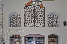 Faux Wrought Iron Niche Insert. idea for my vaulted living room wall.