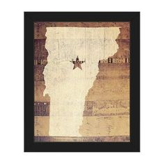 Click Wall Art 'Vermont Rustic' Framed Graphic Art on Canvas