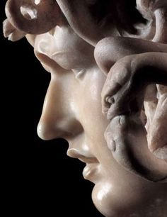 Rome, province of Rome lazio region Italy. Medusa is a marble sculpture of the eponymous character from the classical myth. It was executed by the Italian sculptor Gian Lorenzo Bernini. Baroque Sculpture, Bernini Sculpture, Renaissance, Carpeaux, Gian Lorenzo Bernini, Italian Sculptors, Italian Artist, Caravaggio, Rembrandt