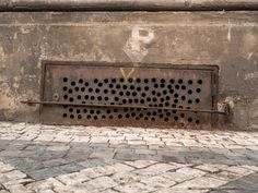 https://flic.kr/p/2199zZr | Concetto Spaziale (Spatial Concept) | Unintentional art of hand-drilled ventilation holes.  Prague, Czechia . . . . . See many more examples from my collection on the Concetto Spaziale (Spatial Concept) pinboard on pinterest. Dedicated to Lucio Fontana.