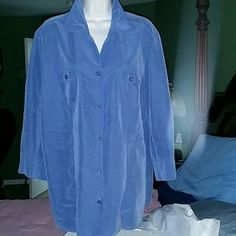 Top from dressbarn, Dark blue, button down , 2 pockets, no stains or rips, worn a dozen times Dress Barn Tops