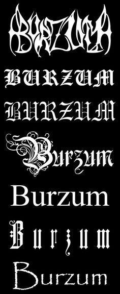 Burzum logos - black metal