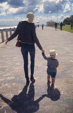 Miranda Kerr, con su hijo Flynn