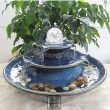 Fontes de água enfeites de cerâmica casa decorações criativas simples e moderno abertura Waterscape sorte feng shui ornamentos bola(China (Mainland))