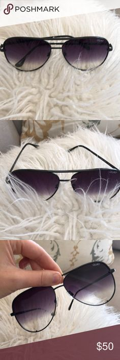 QUAY High Key Fade sunglasses with case Good condition...light scratches on left lens. Accessories Sunglasses
