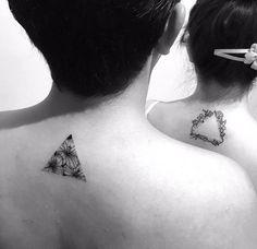 Tatuaje de pareja. Complemento, crédito para InkInc.tv México