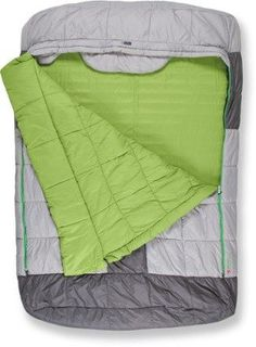 All the ingredients of a cozy bed with room to stretch out and a synthetic comforter that peels back on both sides, the NEMO Mezzo Loft Duo camping bag is built for comfort for 2 people. Available at REI, Satisfaction Guaranteed. Tent Camping Beds, Beach Camping, Camping With Kids, Women Camping, Winter Camping, Camping Essentials, Camping Hacks, Camping Gear, Diy Camping