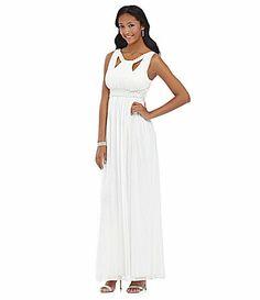 Jodi Kristopher Beaded CrissCross Gown #Dillards $119