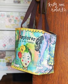 Roomy + beautiful! I adore this tote, expecially her map face.