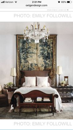 Bedroom Crafts, Guest Bedroom Decor, Wood Bedroom, Master Bedroom, Italian Farmhouse Decor, French Country House, Interior Exterior, Interior Design, Bedroom Vintage