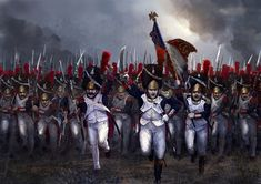 Charging the old French Imperial Guard