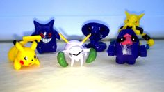 New POKEMON 6 Piece Figures Play Set PIKACHU Gift Cake Topper Party Favor #P13…