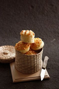 """Csaba's one of favorite snacks: The hungarian cottage cheese scones, called """"pogácsa""""   Flickr - Photo Sharing!"""