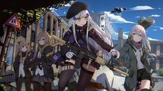 Squad 404 : TacticalDolls Anime Military, Military Girl, Kawaii Anime Girl, Anime Art Girl, Ww Girl, Anime Friendship, Girls Frontline, Female Character Design, I Love Girls
