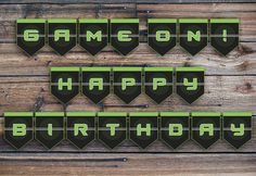 Hey, I found this really awesome Etsy listing at https://www.etsy.com/listing/242186547/video-game-banner-video-game-birthday