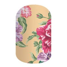 from the 2016 Spring Catalog, Matte Finish Jamberry Fall, Jamberry Party, Jamberry Nail Wraps, Floral Tie, Floral Design, Yellow Background, You Nailed It, Print Design, Bloom