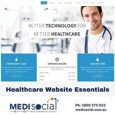 """NEW BLOG POST:  Healthcare Website Essentials... Consulting with a healthcare professional to """"assume the perspective of your patient"""" is one of those classics easier said than done problems. It's not for lack of trying, but owning a healthcare or medical business isn't just a job, it's a lifestyle. And when you put that level of passion and commitment into something, your unique familiarity with it can be tough to shake.  Yet this is the simplest way to quickly optimise your website. By…"""